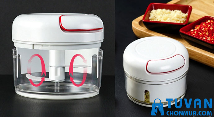 Dụng cụ xay tỏi ớt Mini Food Chopper