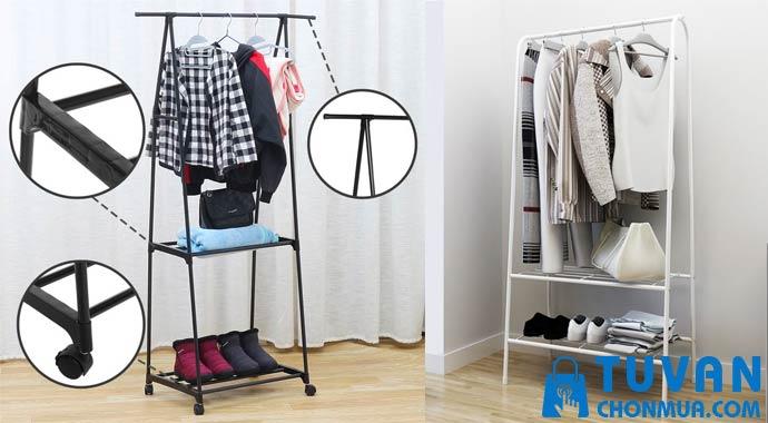 Giá treo quần áo chữ A khung kim loại