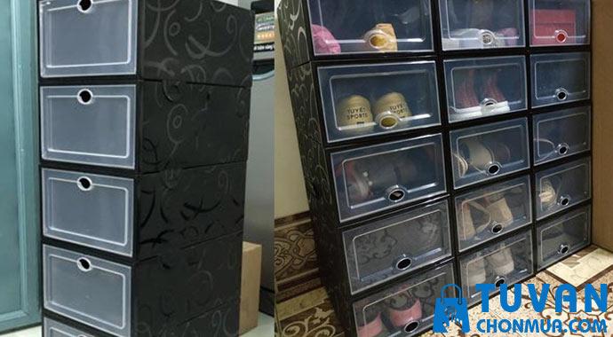 hộp mica đựng giày