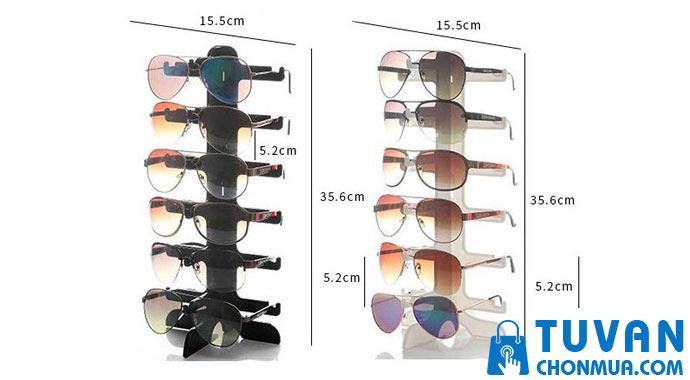 kệ mica trưng bày mắt kính