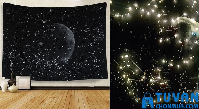 thảm treo tường trang trí galaxy