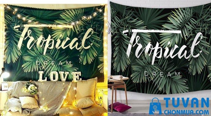 thảm vải decor treo tường tropical