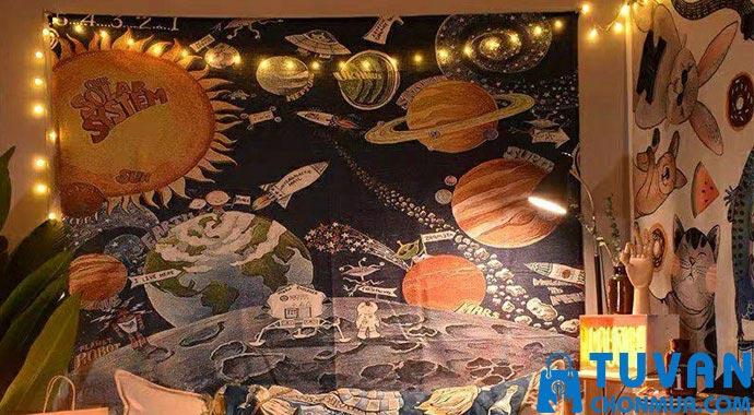 thảm vải treo vũ trụ