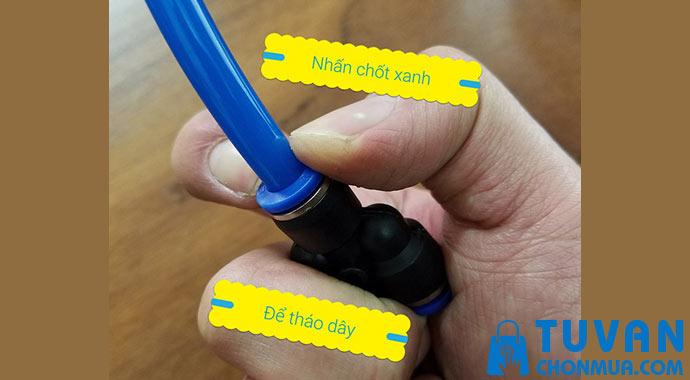 cách dùng co nối khí nén