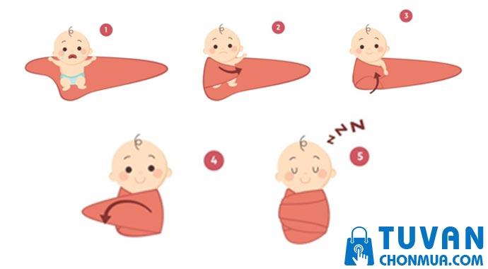 hướng dẫn quấn chũn cho bé
