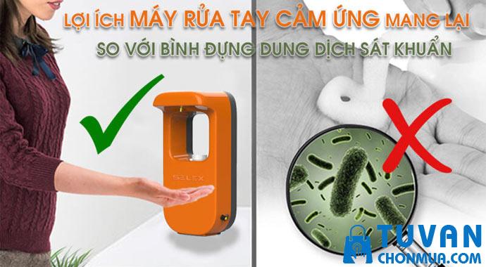 lợi ích máy rửa tay cảm ứng