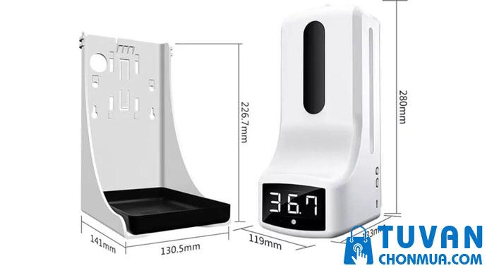 máy sát khuẩn rửa tay đo thân nhiệt k9 pro