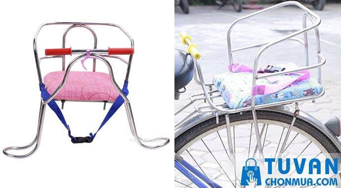 Ghế ngồi xe đạp bằng inox
