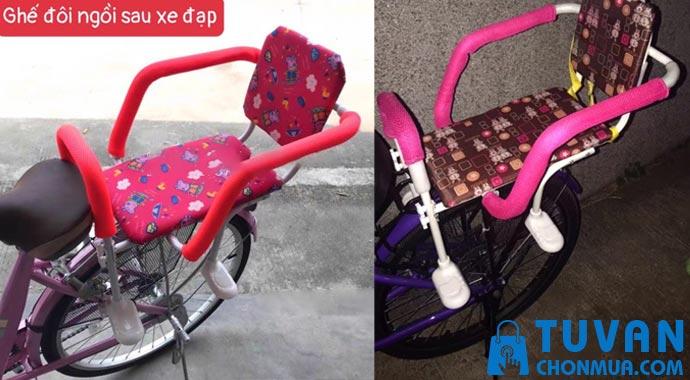 Ghế ngồi xe đạp cho 2 bé