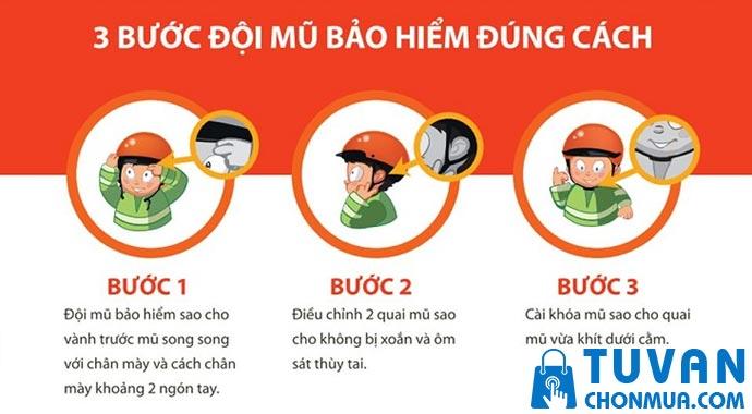 Hướng dẫn đội nón bảo hiểm cho trẻ em đúng cách