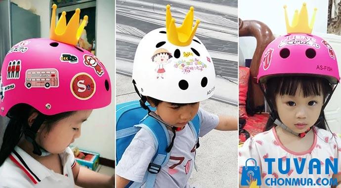 kiểu dáng nón bảo hiểm trẻ em
