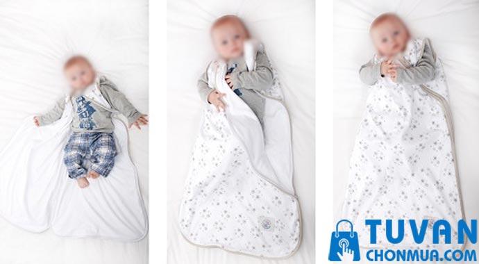 cách sử dụng túi ngủ cho bé