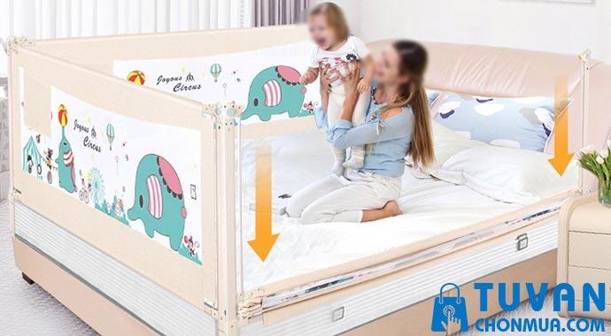 Có nên mua thanh chắn giường cho bé
