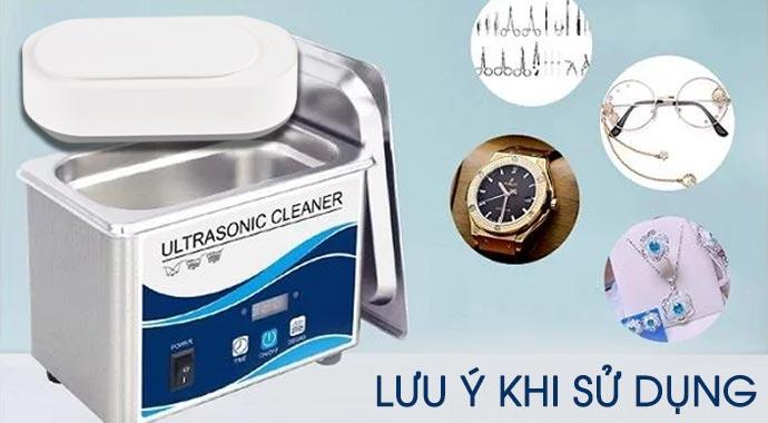 Lưu ý khi sử dụng máy làm sạch trang sức