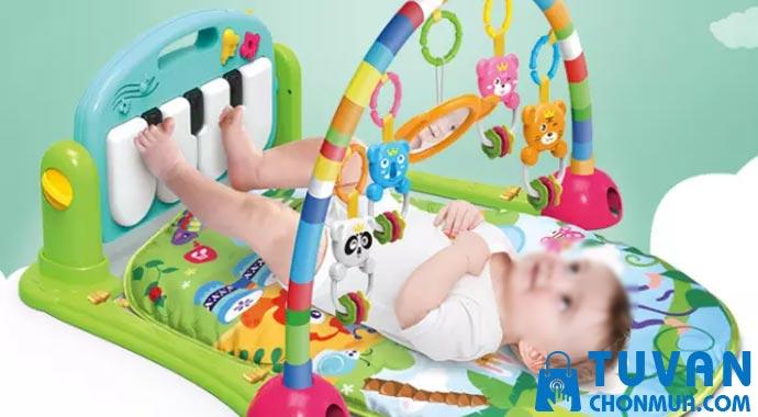 thảm nằm chơi có nhạc cho bé an toàn