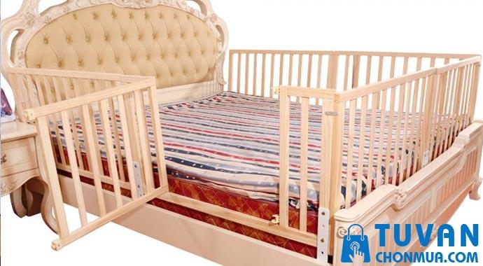 Thanh chắn giường bằng gỗ