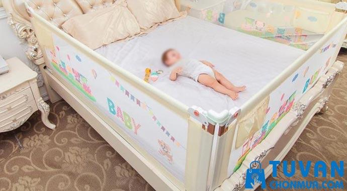 thanh chắn giường cho bé là gì