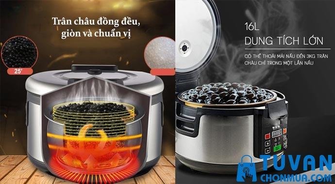 Công dụng của nồi nấu trân châu tự động