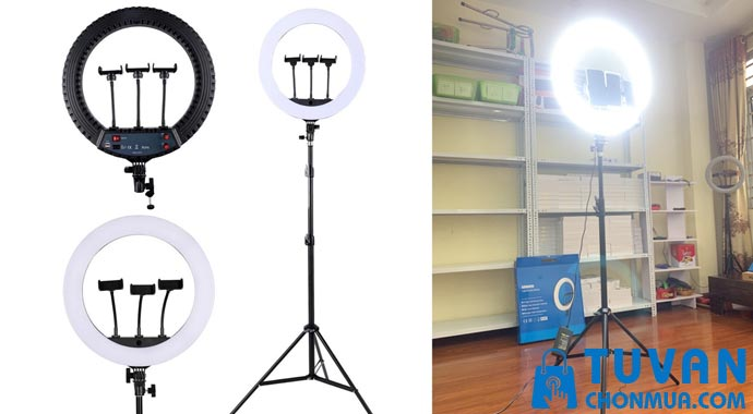 Đèn Livestream 45cm 3 kẹp 3 chế độ sáng